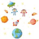 Наклейка Детская Space