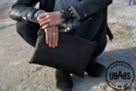 Кожаная женская сумка «Black»