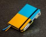 Блокнот с черной бумагой Флаг Украины мини