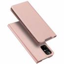 Чехол-книжка Dux Ducis с карманом для визиток для Samsung Galaxy S20+ Rose Gold