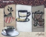 Набор 3 кухонных полотенца Ayben M4806 35х50, вафельные