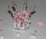 Корона для принцессы из жемчужных бусин и кристаллов от автора handmade Анны Юриной!