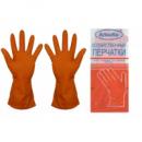 Перчатки резиновые Алиско L оранжевые