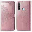 Кожаный чехол (книжка) Art Case с визитницей для Xiaomi Redmi Note 8T Розовый