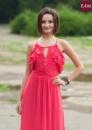 7-1 Длинное нарядное платье