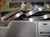 Sharp 555 , Sharp 666 Накладки 3 шт на кассетоприёмники и панель кнопок управления