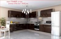 Кухня ГЛАМУР углов. 2700х3600 мм.