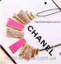 Ожерелье «Керри» розовый цвет, кристаллы и сплав металлов.