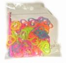 Разноцветные пузырчатые резинки в виде сердечка для плетения Rainbow loom