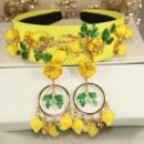 Набор серьги и ободок в Dolce&Gabbana_лимончик