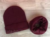 Комплект шапка+бафф (детские и взрослые)