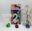 Свеча цифра 2 для торта радуга