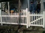 Пластиковый забор-штакетник из ПВХ 1,10 м