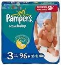 Памперс activ baby Гига упаковки для детей с весом (4-9 кг) -96шт./уп