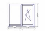 Окно деревянное с энергосберегающим стеклопакетом