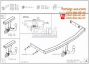 Тягово-сцепное устройство (фаркоп) Seat Altea (2004-2015)