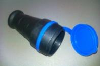 Гнездо каучуковое с заземляющим контактом FAR 16А/250V