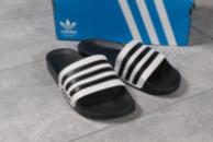 Шлепанцы мужские 16282, Adidas, черные ( 44  )