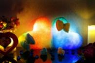 Светящаяся подушка - «Сердце с бантиком»