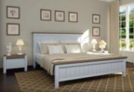 Ліжко Верджинія 160 (білий/горіх темний) + вклад