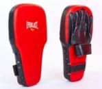 Лапы для тайского бокса (кожа) удлиненные EVERLAST EV-0002 черно-красные