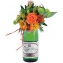 Цветочные композиции для оформления бутылки шампанского