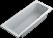 Акриловая ванна SWAN Nino 150х70х58 cм прямоугольная
