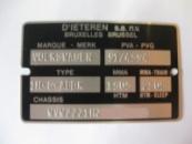 Дублирующие таблички (шильды) на авто VOLKSWAGEN любой модели и кузова