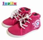 Сникерсы (высокие кеды) детские розовые с рисунком, бренд «Lupilu» (Германия)