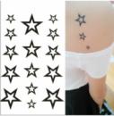 Флеш тату. Временная татуировка. Звезды 10.5 x 6 см