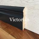 Дерев'яний сірий плінтус «Вікторіан» 100х16 мм