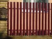Штакетник металлический, металлические заборы, заборы из штакетника.