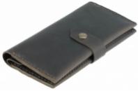 Кошелек кожаный Kisa Серый (ХР-174)