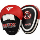 Лапы боксерские RDX Gel Focus Red