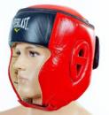 Шлем для бокса кожаный EVERLAST EV-6147-R красный