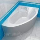Акриловая ванна Cersanit Kaliope Calabria 1700x1000x450 (Левая)