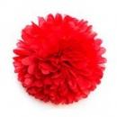 помпоны из тишью 30 см красный