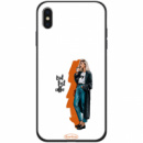 TPU+PC чехол ForFun для Apple iPhone X / XS (5.8«) But first coffee / белый