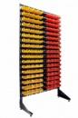 Стеллаж с ящиками и траверсами для метизов 1,8 м + 153 пластиковых ящиков под метизы,крепеж,саморезы,болты,гайки