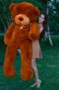 Большой плюшевый медведь Тедди 200 см коричневый