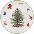 Блюдо керамическое «Новогодний хоровод» Ø38.5см