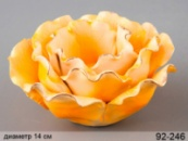 Підсвічник «Жовта троянда» 14 см