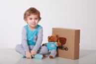 Комплект пижамка и мишка Lucky Friend 128 см Серо-голубой (LF025)