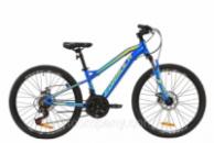 Велосипед AL 24« Formula BLACKWOOD 2.0 AM DD 2020 (сине-желто-салатовый)