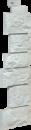 Фасадная панель Угол Fineber Дикий камень Цвет Белый