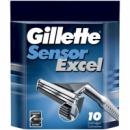 Сменные кассеты для бритья Gillette Sensor Exel (10шт./уп.)