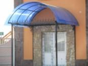 Козырьки над дверью металлические