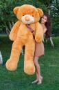 Большой плюшевый медведь Тедди 200 см карамельный