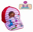 Бейсболка (кепка) детская красная с рисунком «Доктор Плюшева», бренд «Disney»
