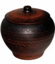Горшок для запекания «Славянский подарок» 700мл Дымленая керамика